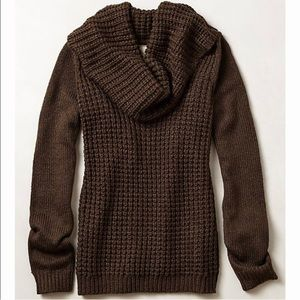Anthropologie Angel Of North Waffle Sweater